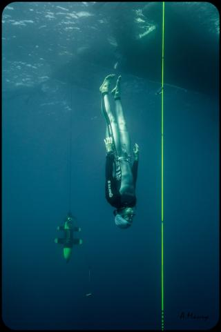 Morgan Bourc'his brille une fois de plus au Nice Abyss Contest
